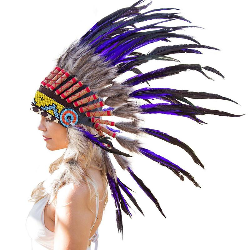 Cocar Indigena Adulto Lilas