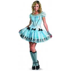 Fantasia Adulto Alice no País das Maravilhas Delicada