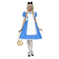 Fantasia Adulto Alice no País das Maravilhas Luxuosa Extra Grande