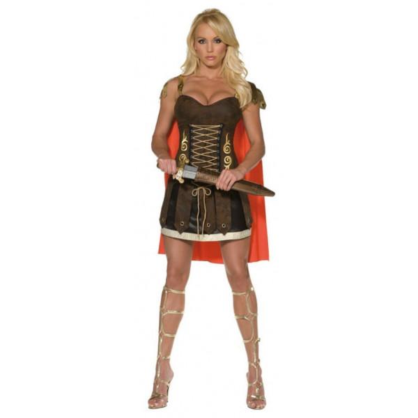 Fantasia Adulto de Gladiadora Guerreira Romana Sexy