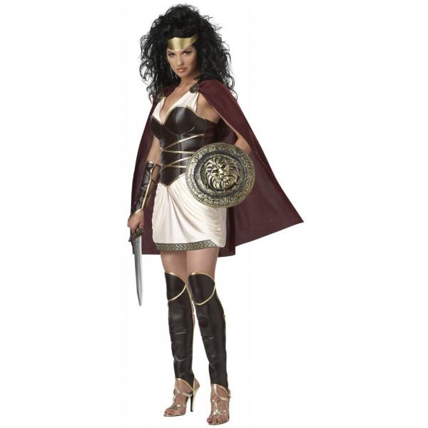 Fantasia Adulto de Gladiadora Rainha Guerreira Romana Sexy