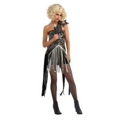 Fantasia Adulto Feminino Lady Gaga Franja