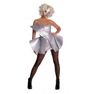 Fantasia Adulto Feminino Lady Gaga Prata