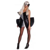 Fantasia Adulto Feminino Lady Gaga Preto e Prata