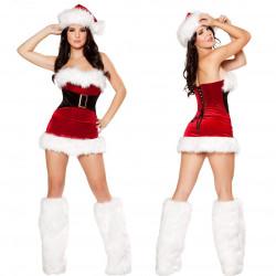 Fantasia Adulto Feminino Natal Papai Noel Clássico