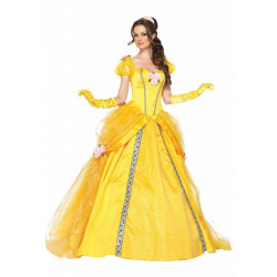 Fantasia Adulto Feminino Princesa Bela Elite Luxo