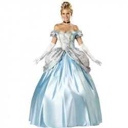 Fantasia Adulto Feminino Princesa Encantada Cinderela Luxo