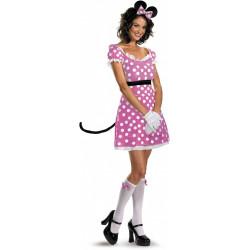 Fantasia Adulto Minnie Mouse Rosa