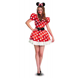 Fantasia Adulto Minnie Mouse Vermelha