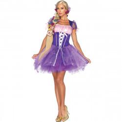 Fantasia Adulto Rapunzel Enrolados Sexy Luxo