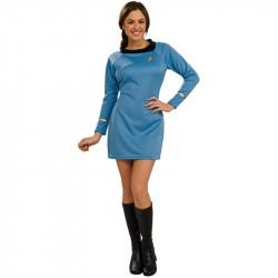 Fantasia Adulto Star Trek Vestido Azul