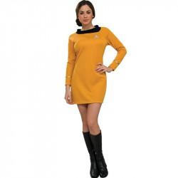 Fantasia Adulto Star Trek Vestido Dourado