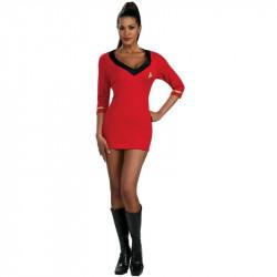 Fantasia Adulto Star Trek Vestido Vermelho Sexy