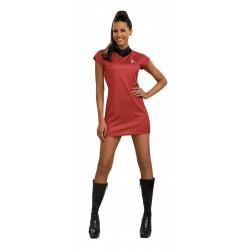 Fantasia Adulto Star Trek Vestido Vermelho Sexy Luxo