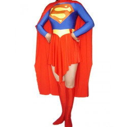 Fantasia Adulto Super Garota Super Girl Spandex