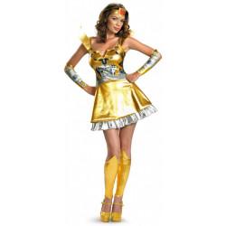 Fantasia Adulto Transformers Bumblebee Feminino Sexy