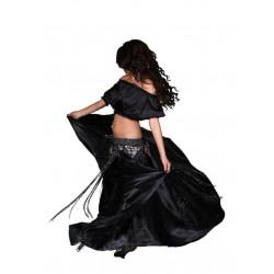 Fantasia Adulto Tribal Dança do Ventre Luxo Preta