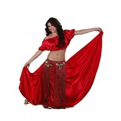Fantasia Adulto Tribal Dança do Ventre Luxo Vermelho
