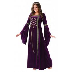 Fantasia Adulto Vestido Trançado Luxo Extra Grande