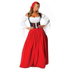 Fantasia Alemã Oktoberfest Adulto Feminino Longo