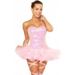 Fantasia Bailarina Sexy Lantejoulas Adulto