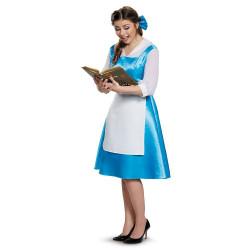 Fantasia Bela Vestido Azul Bela e a Fera Adulto Luxo