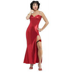 Fantasia Betty Boop Adulto Longo Luxo Completo