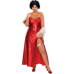 Fantasia Betty Boop Adulto Luxo Extra Grande