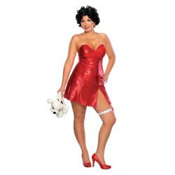 Fantasia Betty Boop Vestido Adulto Extra Grande