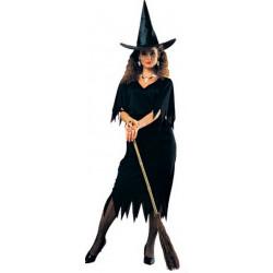 Fantasia Bruxa Negra Adulto Clássica