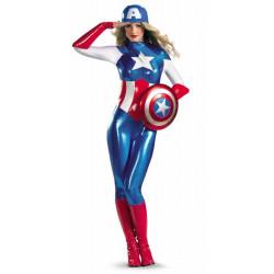 Fantasia Capitão América Adulto Feminino