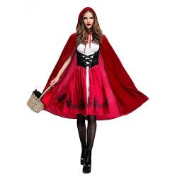 Fantasia Chapeuzinho Vermelho adulto Feminino Plus Luxo