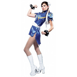 Fantasia Chun Li Adulto do Street Fighter