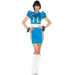 Fantasia Chun Li Street Fighter Adulto Luxo
