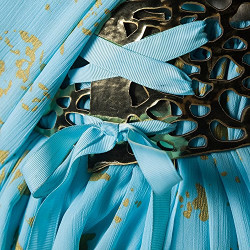 Fantasia Daenerys Targaryen Khaleesi Game of Thrones Adulto Vestido Azul