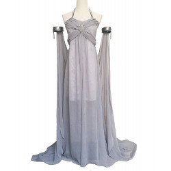 Fantasia Daenerys Targaryen Khaleesi Game of Thrones Adulto Vestido Cinza