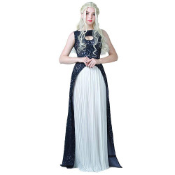Fantasia Daenerys Targaryen Khaleesi Game of Thrones Vestido Azul Adulto