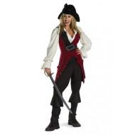 Fantasia Elizabeth Piratas do Caribe Luxo Adulto