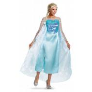 Fantasia Elsa Uma Aventura Congelante Adulto Luxo