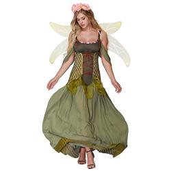 Fantasia Fada Madrinha Princesa da Floresta Adulto Luxo