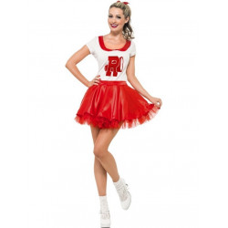 Fantasia Grease Rydell High Cheerleader Adulto