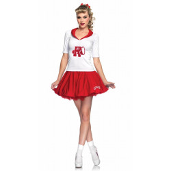 Fantasia Grease Rydell High Cheerleader Adulto Luxo
