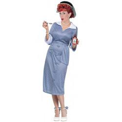 Fantasia I Love Lucy Luxo Adulto Azul