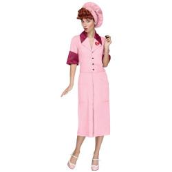 Fantasia I Love Lucy Luxo Adulto Rosa