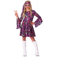 Fantasia Infantil Hippie Lilás
