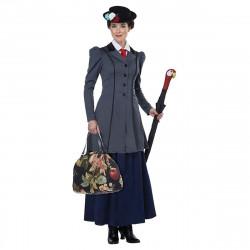 Fantasia Mary Poppins Cinza Clássica