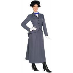Fantasia Mary Poppins Luxo Cinza