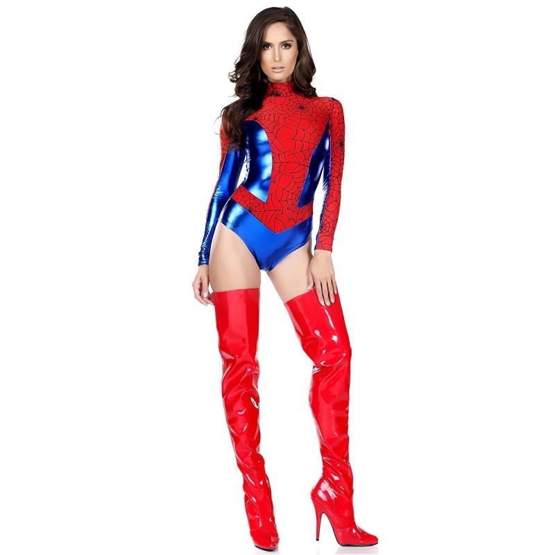 a62d5b9933 Fantasia Mulher Aranha do Homem Aranha Feminino Adulto Maiô