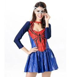 Fantasia Mulher Aranha do Homem Aranha Feminino Adulto Vestido Luxo