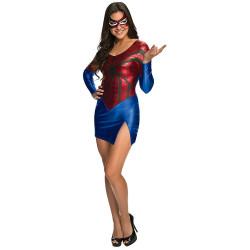 Fantasia Mulher Aranha do Homem Aranha Feminino Adulto Vestido Sexy